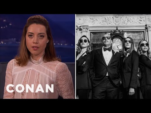 Aubrey Plaza Was A Groomswoman At Her Dad's Wedding  - CONAN on TBS