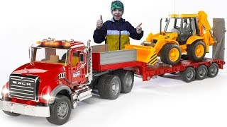Unboxing and Assembling new Bruder Toys / Ride on Tractor Excavator / Pretend Play Power Wheels