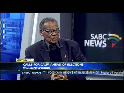 Mangosuthu Buthelezi called for peace ahead of elections