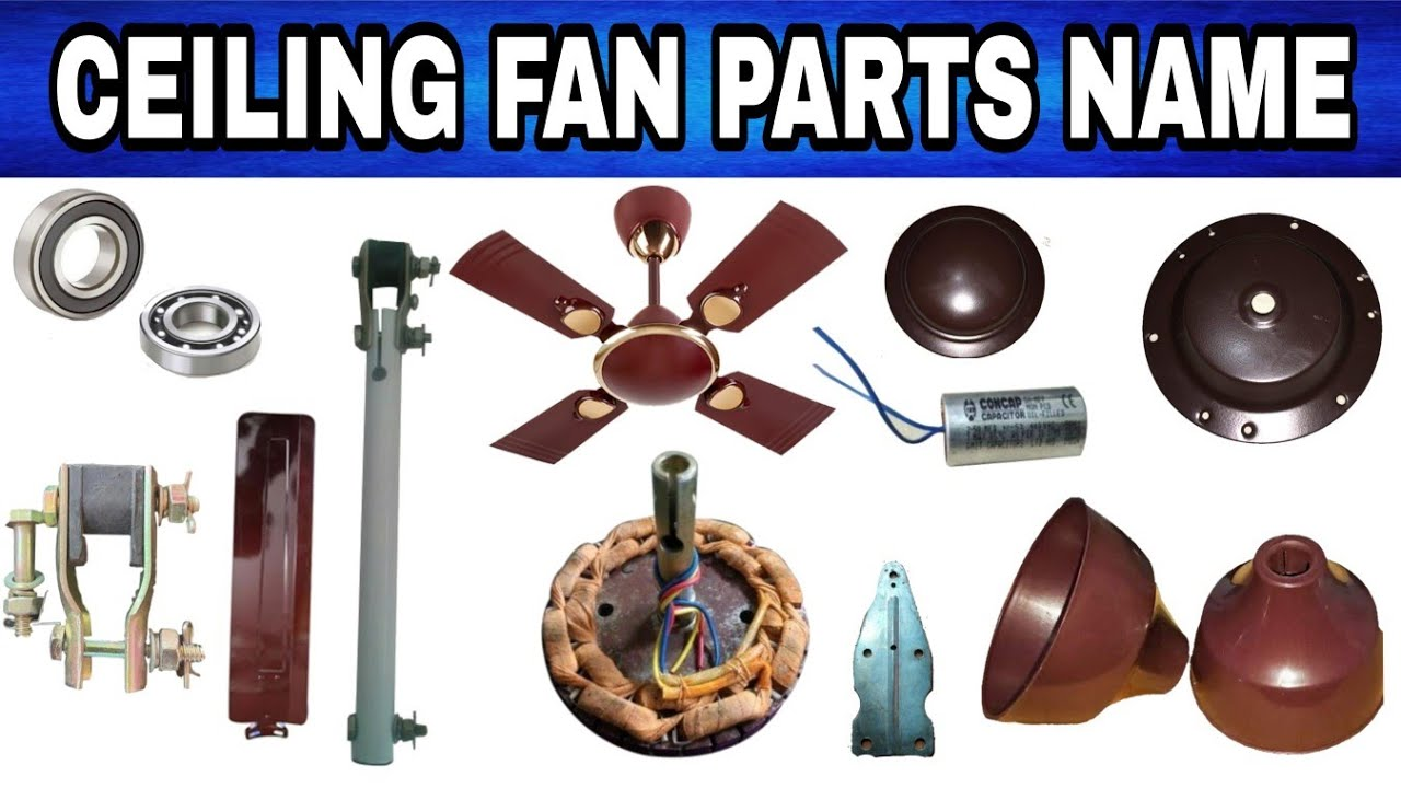 Ceiling Fan All Parts Name Inside Outside Youtube