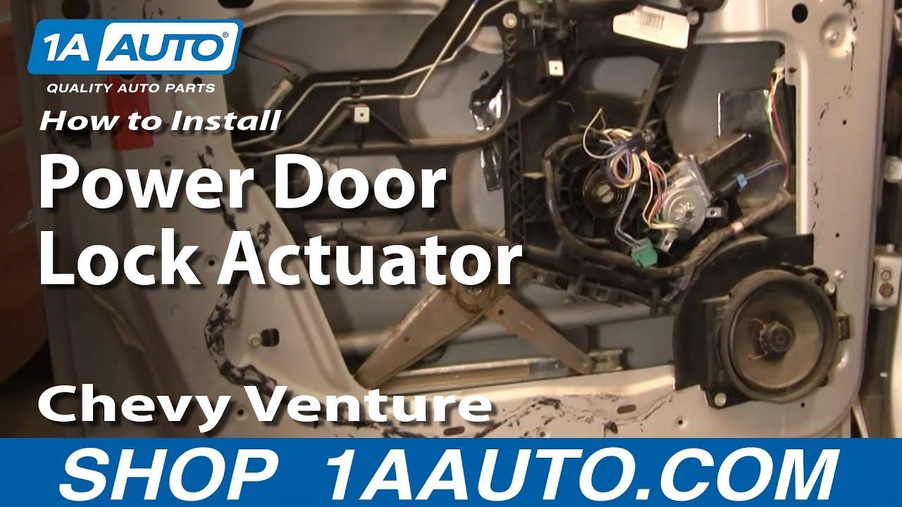 2007 Chevrolet Uplander Engine Diagram How To Install Replace Power Door Lock Actuator Chevy