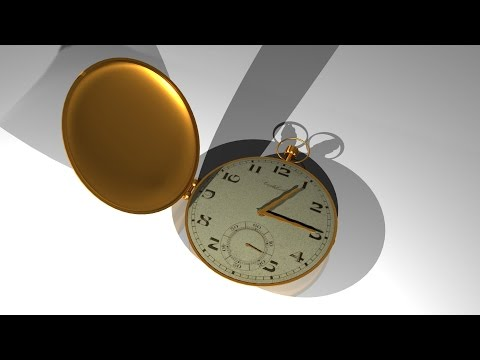 Maya 2014 tutorial : How to model a pocket watch