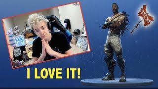 Ninja Reacts To Bandolier Skin & Stop Axe Pickaxe In Fortnite