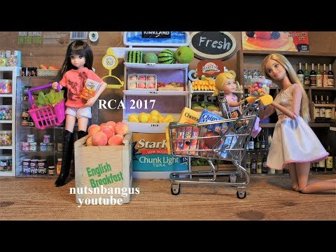Barbie Supermarket Grocery Store Shopping stop motion