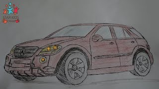 How to Draw Mercedes ML Class W164