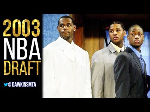 2003 NBA Draft Highlights - Selections Of LeBron, Wade, Melo, Bosh!