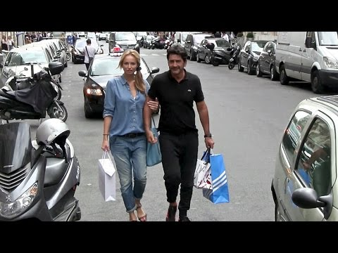 EXCLUSIVE - Adriana Karembeu and boyfriend Andre Ohanian walking hand by hand in Paris