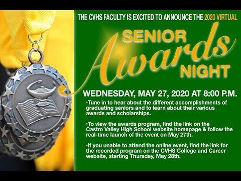 CASTRO VALLEY HIGH SCHOOL SENIOR AWARDS NIGHT 2020