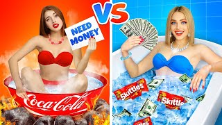 RICH COLD Girl vs POOR HOT Girl! Who Will Win? Epic War by RATATA BOOM