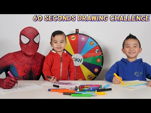 60 Seconds DRAWING  Superhero Challenge Fun With CKN Toys