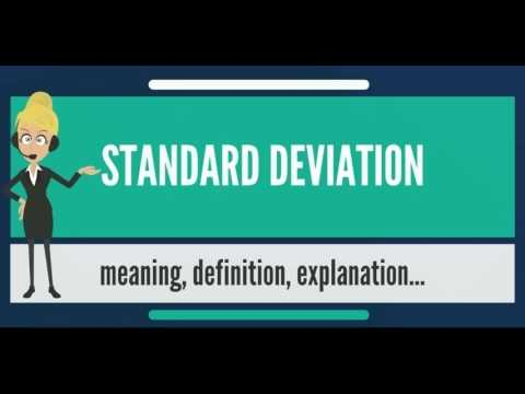 What is STANDARD DEVIATION? What does STANDARD DEVIATION mean? STANDARD DEVIATION meaning