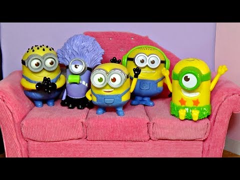 Five Little Minions Jumping On The Bed │ Five Little Monkeys Jumping On The Bed │ Happykids