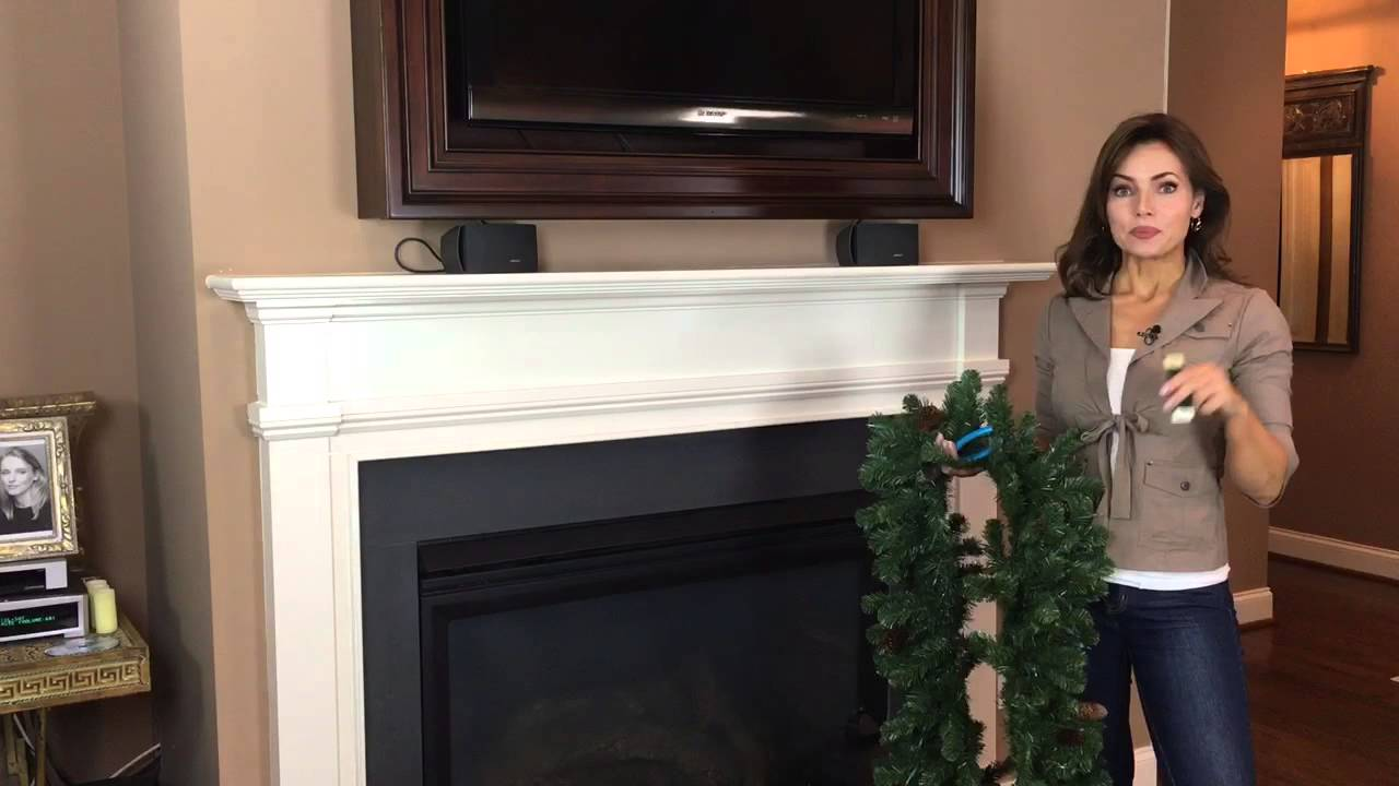 What You Need to Hang a Garland on Your Mantel for Christmas Part