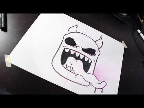 Как нарисовать демон искусство ► граффити Буклеты