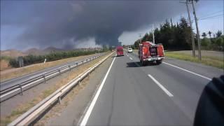 BOMBEROS TILTIL, apoyo a incendio (CB COLINA-LAMPA)
