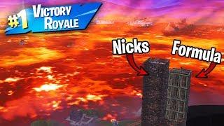 """Formula & Nicks play the """"Floor is Lava"""" in Fortnite... (INSANE Ending!)"""