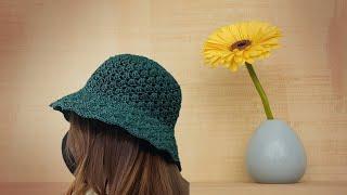 ((코바늘))  조개무늬 여름모자  hat