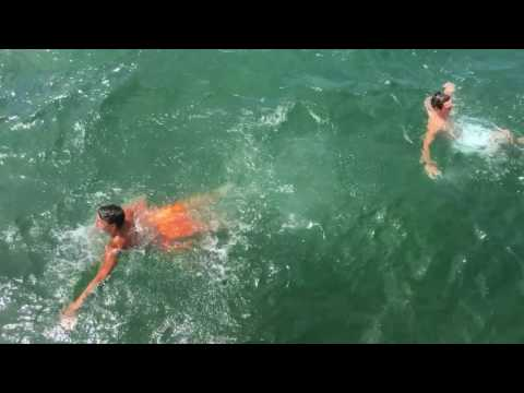 16 year olds jump off Boardwalk in Port Austin, Mi