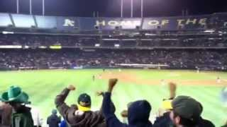 Josh Reddick First Career Grand Slam vs. Boston Red Sox from the Left Field Bleachers