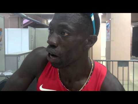 Lopez Lomong After Worlds Championships 1500m Round 1