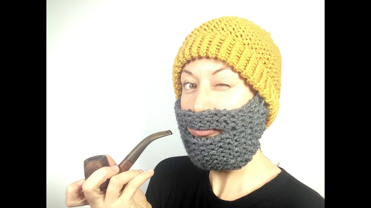 Cómo tejer un gorro con barba en telar (Tutorial DIY) - YouTube
