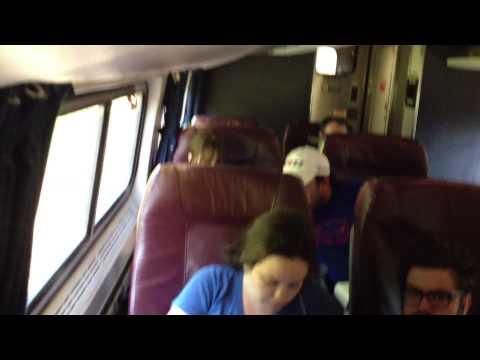 Business class onboard Amtrak's Empire Service