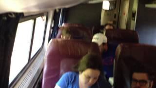 Business class onboard Amtrak