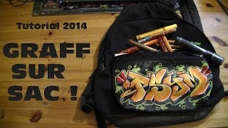 TUTORIAL GRAFFITI : faire un graff sur un sac / molotow one4all ou posca [HD1080]