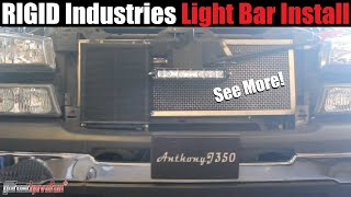 Builds: Silverado Rigid Industries Light Install and Demo (SR Series light bar)