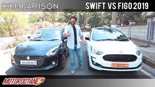 Maruti Swift 2019 vs Ford Figo blu Comparison   Hindi   MotorOctane