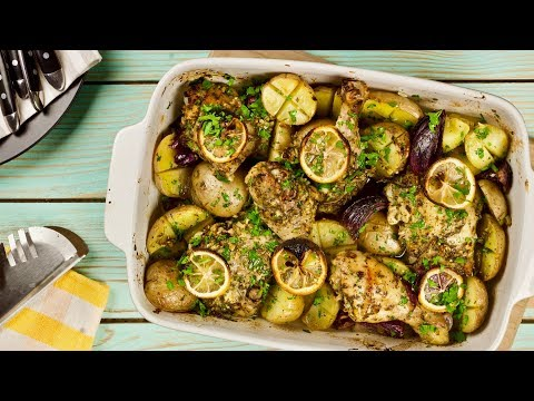 Курица с картошкой, лимоном и чесноком в духовке – ОРИГИНАЛЬНО!