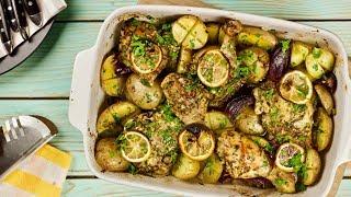 Курица с картошкой, лимоном и чесноком в духовке –...