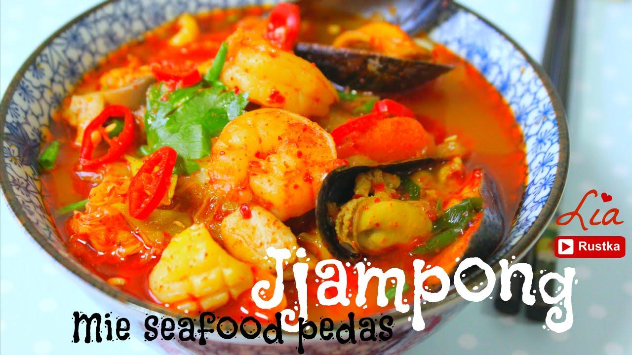 Resep Jjampong, mie seafood pedas korea - YouTube