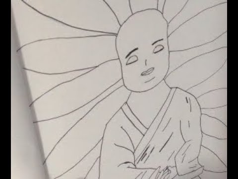 How to draw Buddha Tutorial - Inspired by Inktobia Day 2 prompt: Mindfullness thumbnail