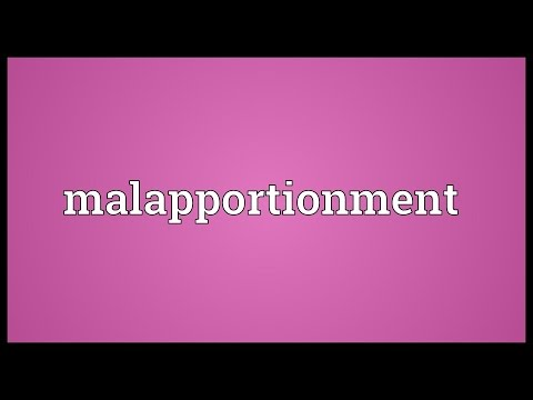 Malapportionment Meaning