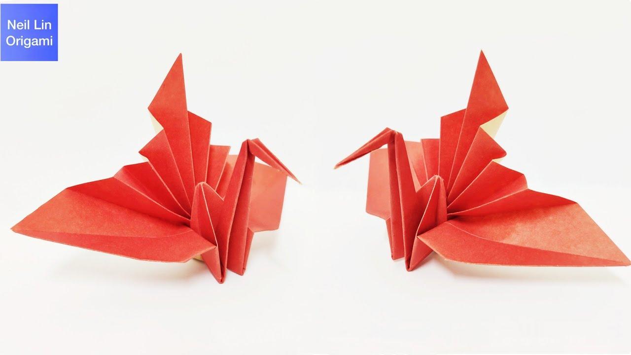 Origami Congratulations Crane Tutorial - How to make a paper Crane
