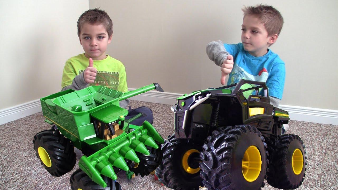 John Deere Monster Truck Tractor Rumble Toys In Action