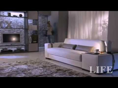 divano letto apertura con comando elettrico-divano letto con ... - Divano Letto Matrimoniale Elettrico