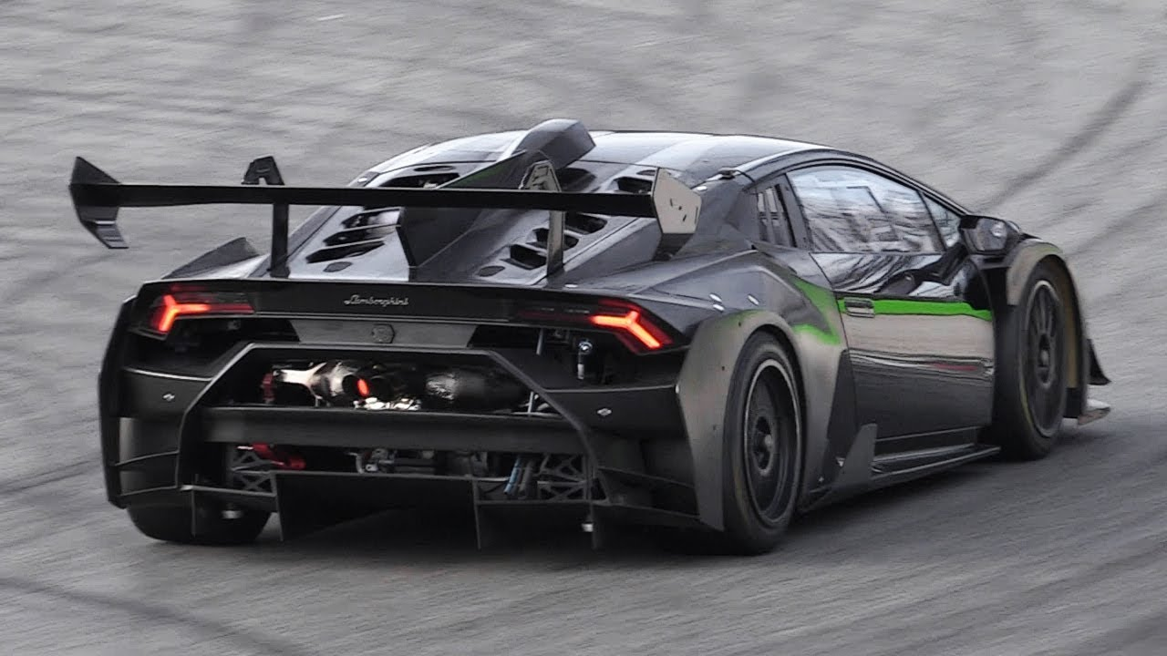New Lamborghini Huracan Super Trofeo Evo Testing On Track Youtube