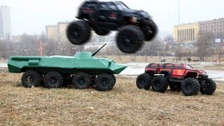 BTR-80 8x8, Summit 6x6, Summit 4x4 - Part 4 (Drifting on the ice)