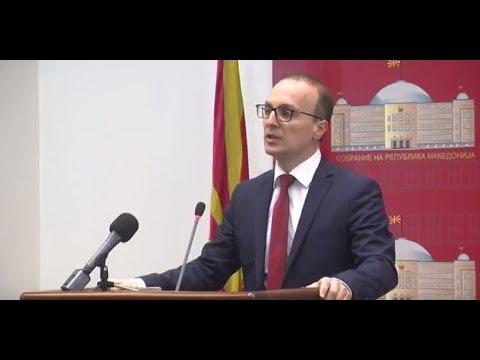 Прес-конференција на ВМРО-ДПМНЕ во Собрание
