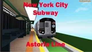 ROBLOX MTA ASTORIA LINE: THE N TRAIN RUNS LOCAL SERVICE IN ASTORIA!! || w/ Little Duvon