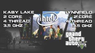 """Grand Theft Auto V - Pentium G4560 vs. """"Lynnfield i3"""" 3.5GHz"""