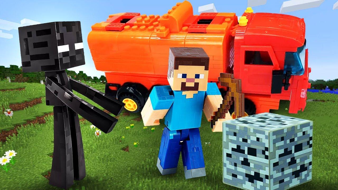 Новый сборник видео - Эндермен против Стива Майнкрафт Лего! – Minecraft онлайн игры для мальчиков.