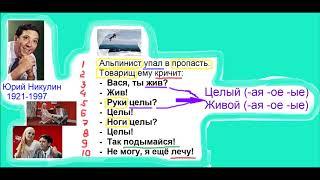 Смотреть ANECDOTE RUSSIAN CONTEXT AND GRAMMAR ЮРИЙ НИКУЛИН My Movie онлайн