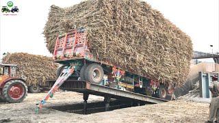 Belarus 510.1   Hydraulic Unloading System of Sugarcane loaded Trailer