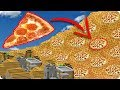 TSUNAMI DE PIZZA EN MINECRAFT | RETO DE LA BASE VS TSUNAMI EN MINECRAFT