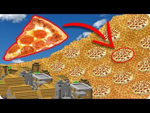 TSUNAMI DE PIZZA EN MINECRAFT | RETO DE LA BASE VS TSUNAMI EN MINECRAFT