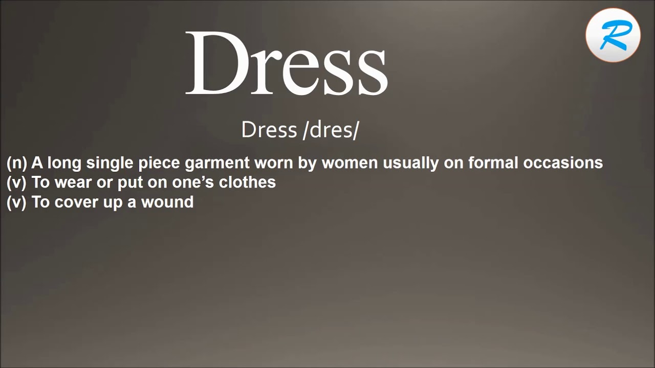 How to pronounce dress