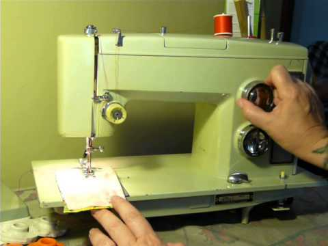 NIFTYTHRIFTYGIRL Vintage Kenmore Model 40 Sewing Machine YouTube Mesmerizing Blue Kenmore Sewing Machine